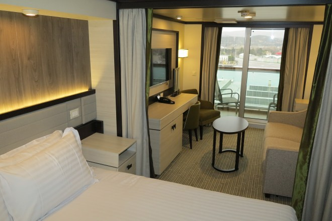 And so to bed: A superior deluxe balcony cabin on Britannia