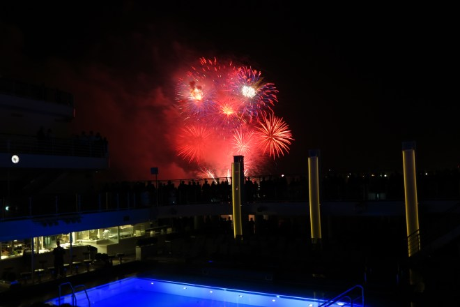 Spectacular: The fireworks display