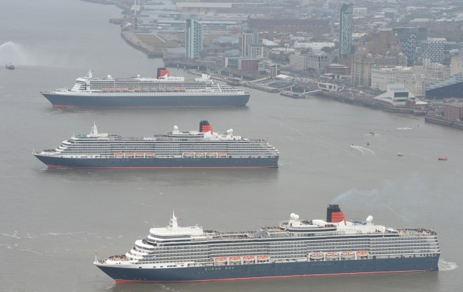 Royal visit: Cunard's 'three Queens' have helped raise the profile of Liverpool (Picture: James Morgan/Cunard)
