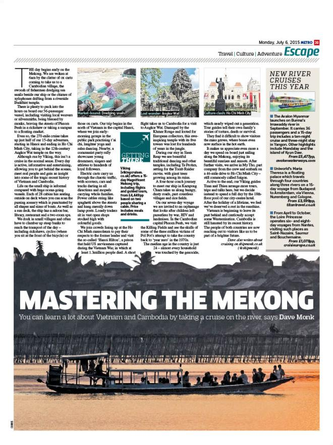 The page in Metro