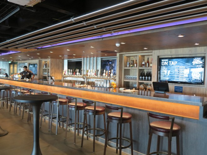 Room with a brew: The District Brew House serves a selection of beers on tap