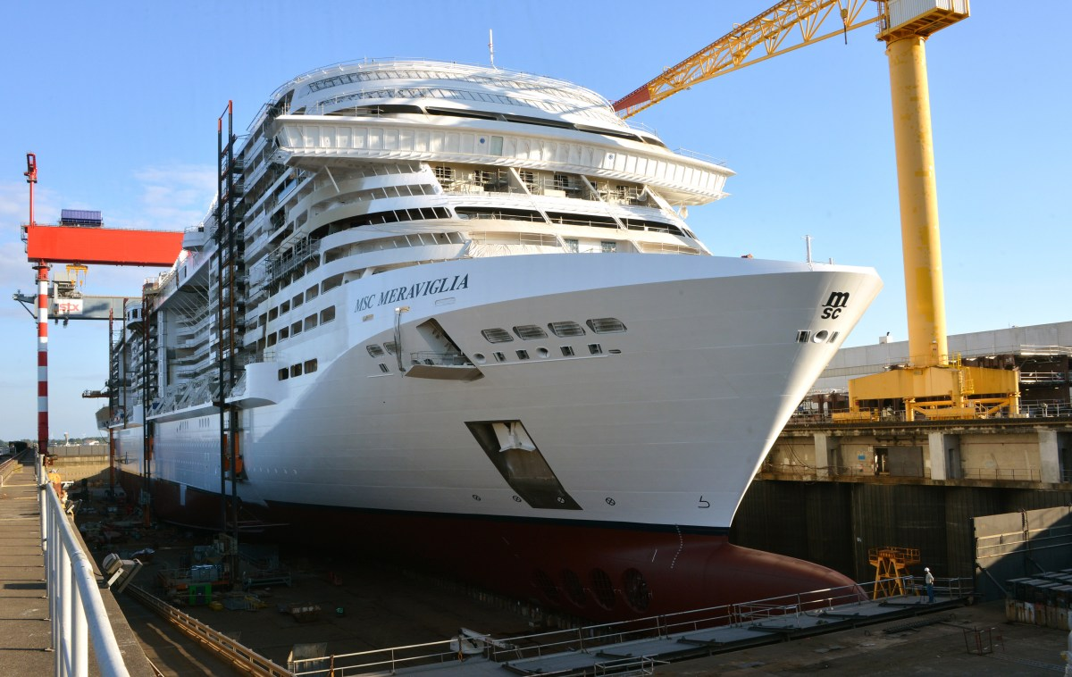 Bellissima! MSC reveals name of next mega-ship as Meraviglia floats out