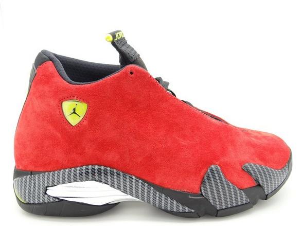 "info for 33bff a5dea Air Jordan 14 Retro ""Ferrari"" Men s Shoes Challenge Red Vibrant Yellow  Anthracite Black ..."