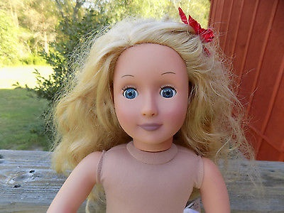 Battat Our Generation 18 Doll Gorgeous Blonde Hair and Blue Eyes Very Clean