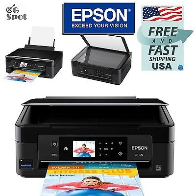 Epson All-in-One Home Wireless Color Photo Inkjet Printer Copier Scanner NEW
