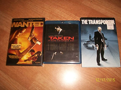 2 DVD & Blue Ray Taken Extended Cut - The Transporter Special Edition-New Wanted