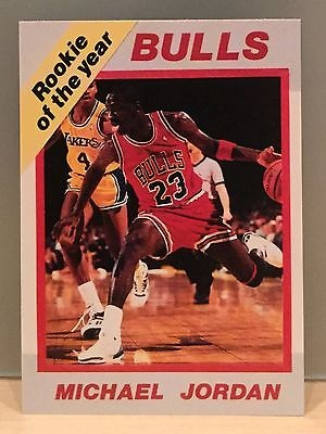 Michael Jordan Rookie Of The Year Plus Rated Rookie Back Wow Rare Card For Sale