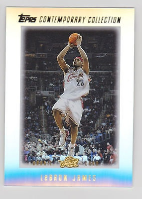 Lebron James 2003 04 Topps Contemporary Collection 1 Rookie Card Cavs Heat Rc For Sale