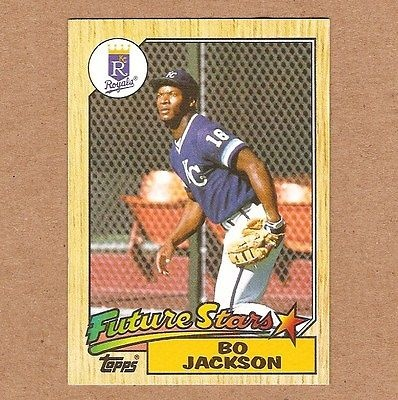 1987 Topps 170 Bo Jackson Rc Baseball Card Exmt Condition Royals Rookie For Sale