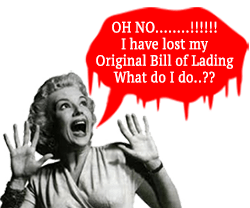 What to do when the original bill of lading is lost  ??