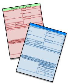 House Bill of Lading and Master Bill of Lading