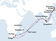 image for shipping route