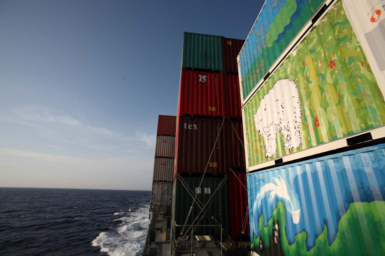 container ship art
