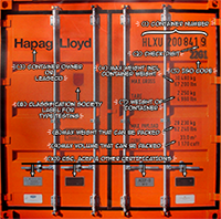 markings on a Container Door