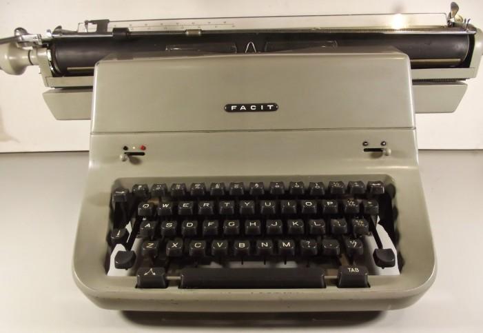 vintage shipping - manifest typing on typewriter