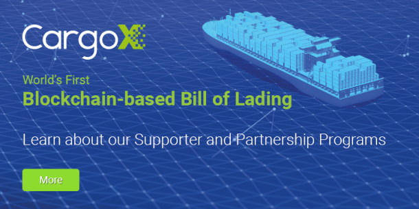 CargoX - world's first blockchain based bill of lading