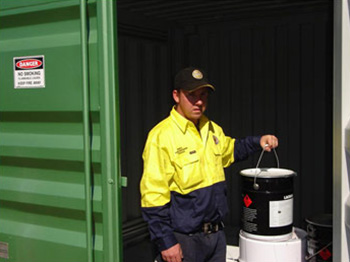 Storing Chlorine Container