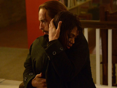 Ichabod and Abbie in Sleepy Hollow