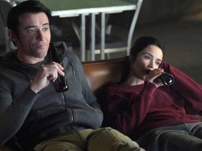 Garcia Flynn and Lucy Preston in Timeless