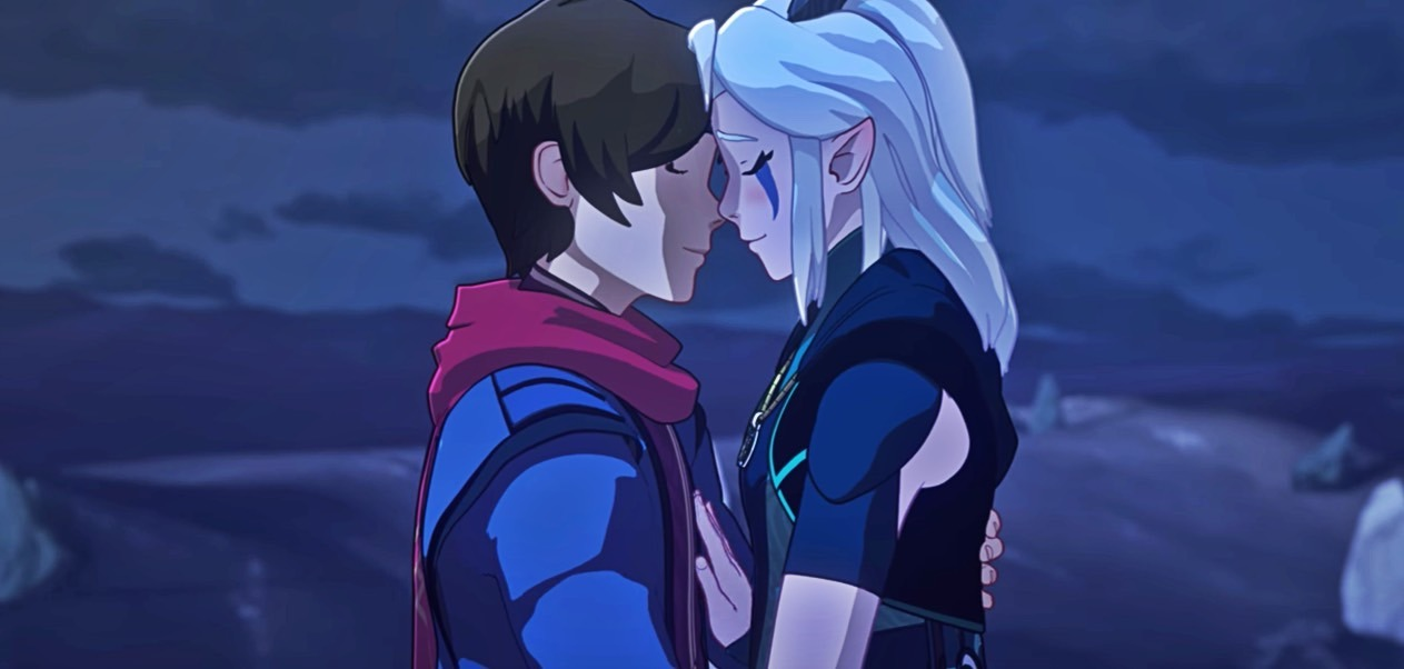 Callum and Rayla in The Dragon Prince