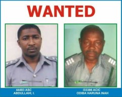Image result for Arm seizure update: Two Customs officers surrender, another declared wanted