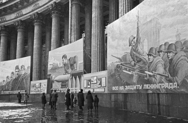 Kazan Cathedral during the Siege of Leningrad