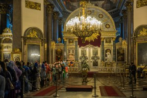 Service in Kazan Cathedral