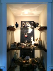 Deb Shrader created this display case for the things her husband brought up from the sea, and beloved items they've received as gifts over the years.