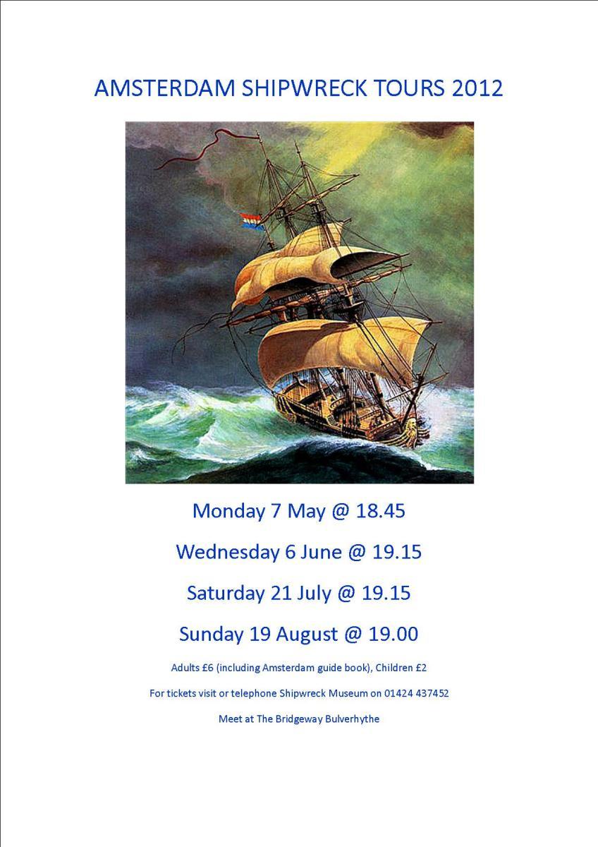 AMSTERDAM SHIPWRECK TOUR POSTER 2012