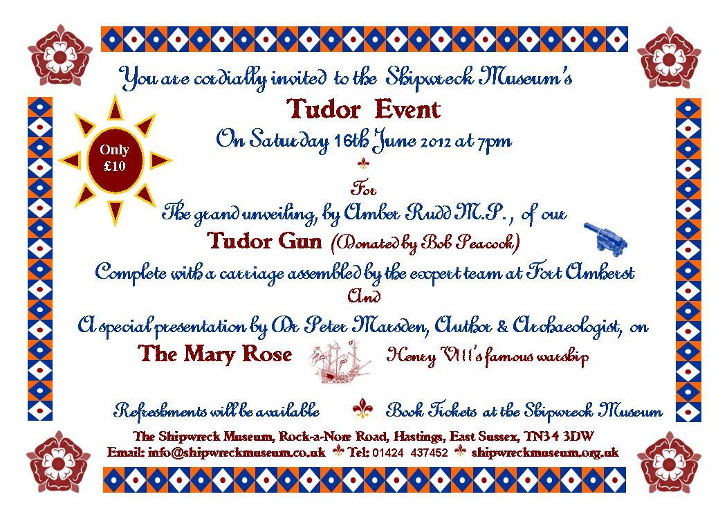 Tudor day invite