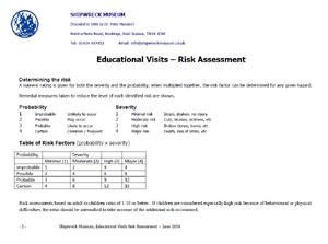 Educational Visit - Risk Assessment Form PDF