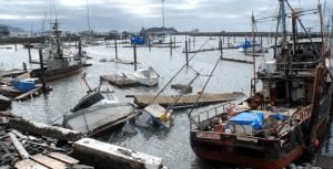 Sandy damages boats