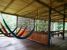 Shiripuno Lodge - Hammocks Lounge to relax after forest activities.