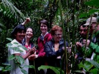 The Waorani Guides explain the use of plants for daily use items such as hammocks, string bags, fishing lines. The forest provided everything people needed.