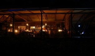 Shiripuno Lodge - Our dinner among millions of forest creatures.