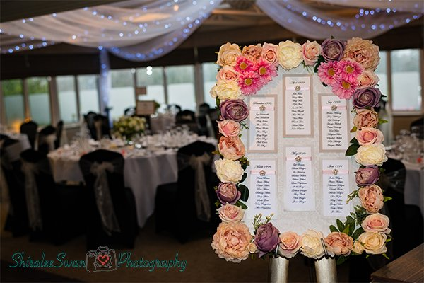 Beautiful table plan by Shiralee
