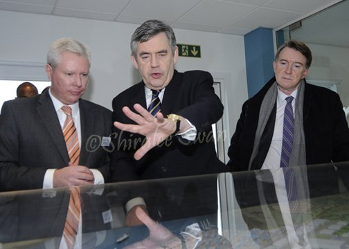 Gordon Brown with others at DP World