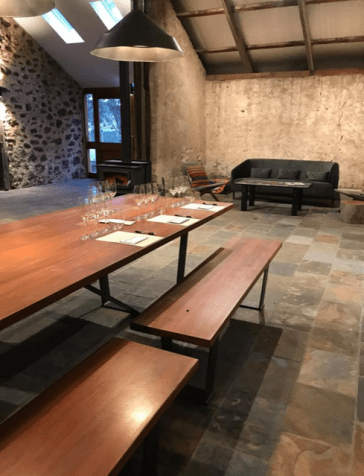 boutique wine tasting room