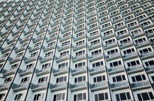 Rows and rows of minute condominiums are being built at an alarming rate . Most remain unoccupied because an average family of 6 can barely afford a 21sq meter flat.