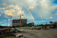 The once open green fields have been raised to the ground to build more condominiums. What's at the end of this rainbow? January 2016