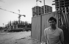 """The Philippine daily minimum wage is Php 481 pesos or about $10. The current condominium rates are Php 149,300 (U.S. $ 3,179) per square metre. """"I've been working on the same construction project for close to three years. I will never be able to afford an apartment which I helped build. Definitely, not in my lifetime"""""""