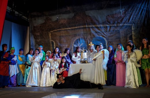 """The Malibay Cenaculo passion play is the oldest of its kind still running in the Philippines. The word """"cenaculo"""" (or cenacle) is derived from Spanish and describes the place where Jesus and his disciples celebrated the Last Supper. The play began along the outskirts of Pasay in 1902 and is roughly based on Filipino Gaspar Aquino de Belen's poem """"Pasyon,"""" which he wrote in 1703. The poem describes Christ's passion, death, and resurrection."""