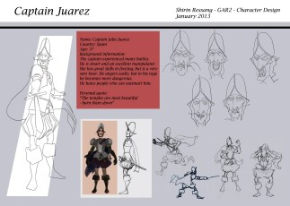Model sheet Captain Juarez