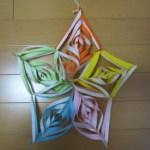 折り紙 立体の星と雪の結晶の作り方 部屋の飾り付けにも♪