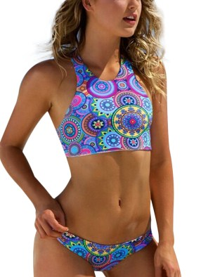 Low Waist Triangle Bikinis High Neck Brazilian Swimwear
