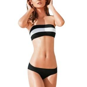 Women's Push-up Padded Bra Bandage Bikini Set Strapless Swimwear