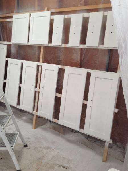 How We Painted Our IKEA Kitchen Cabinets  Shirley  Chris