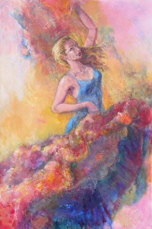 Flamenco Dancer, 36 x 24 in SOLD