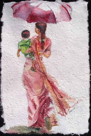 My Son II, 12 x 8 in, watercolour on handmade saa paper