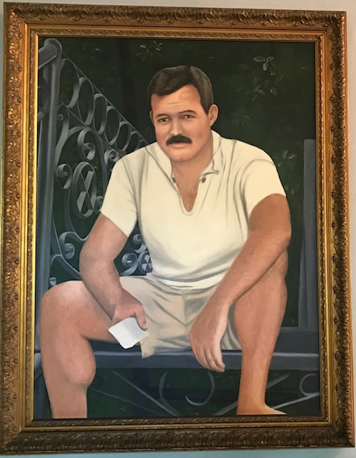 The young Hemingway as he looked in Paris. Photo taken at the Hemingway house, 2017.